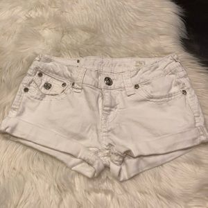 La idiot white denim shorts